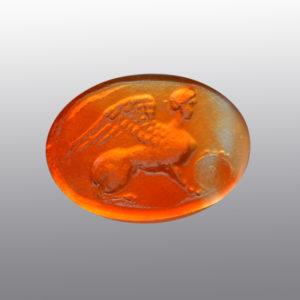 #0137-17x13 arancio chiaro_intaglio_cameo