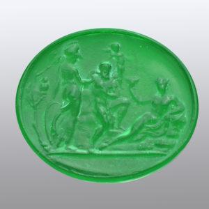 #0384-40x34 verde smeraldo chiaro-cameo-intaglio