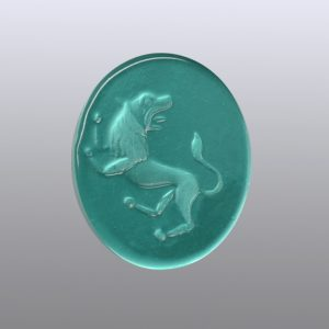 #0632-15x12.5 verde marino-intaglio-cameo