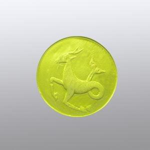 #0635-13.5x13.5 verde erba medio-intaglio-cameo