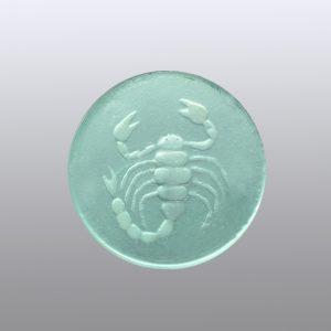 #0636-13.5x13.5 verde paraiba-intaglio-cameo