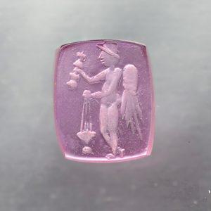 #0639-11x9 rubellite chiara-intaglio-cameo