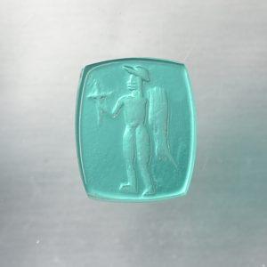 #0642-11x9 verde marino-intaglio-cameo