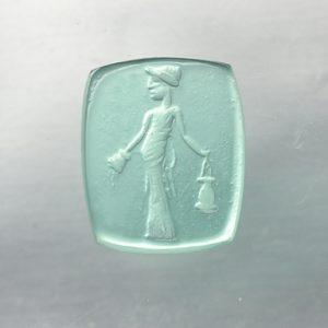 #0644-11x9 verde paraiba-intaglio-cameo