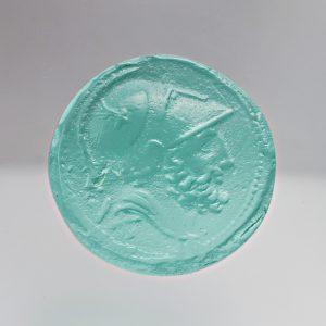#0650-14.5x14.5 -verde paraiba-cameo-intaglio
