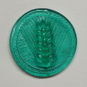 #0660-27x27 verde marino-cameo-intaglio