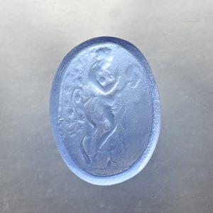 #0674-18x13.5 bluino scuro-cameo-intaglio