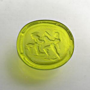 #0678-13.5x12 verde erba medio-cameo-intaglio