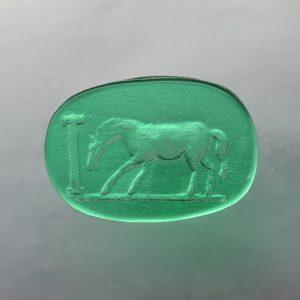 #0700-10x15-verde selva-intaglio-cameo