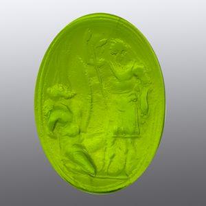 #0714-29x20.5 verde erba scuro-cameo-intaglio