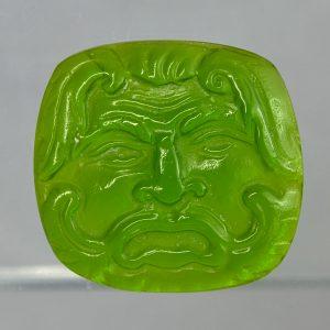 #0716-29x27.5 verde erba scuro-cameo-intaglio