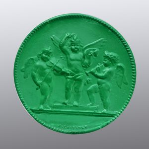 #0717-39x39 verde tormalina-cameo-intaglio