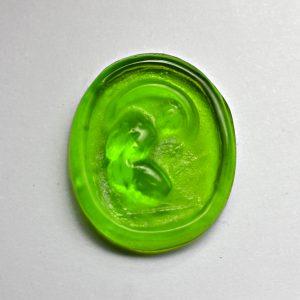 #0719-13x11 verde erba scuro-cameo-intaglio