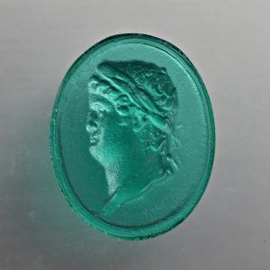 #0751-18x14 verde marino-cameo-intaglio
