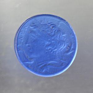 #0782-13.5x13.5 tanzanite media-cameo-intaglio