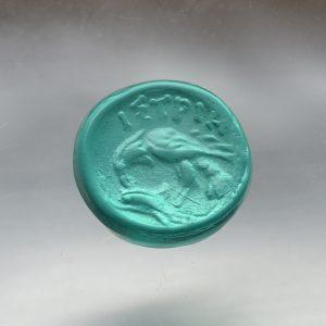 #0783-12x11.5 verde marino-cameo-intaglio