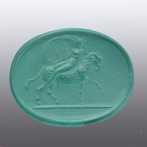#0789-36.5x29 verde paraiba-cameo-intaglio
