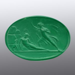 #0790-40.6x28-6 verde selva-cameo-intaglio