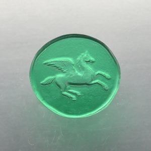 #0803-13.5x13 verde selva-intaglio-cameo