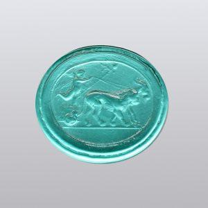 #0861-17.3x15.3 verde marino-cameo-intaglio