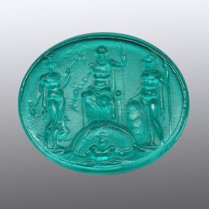 #0871-29.5x24.5 verde marino-cameo-intaglio
