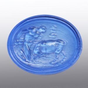 #0873-31.5x25.4 bluino scuro-cameo-intaglio
