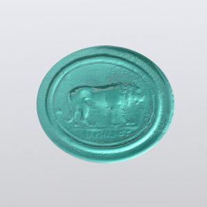 #858-15x13 verde marino-cameo-intaglio